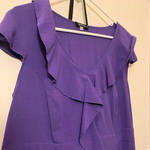 Purple Frill Dress plus size!